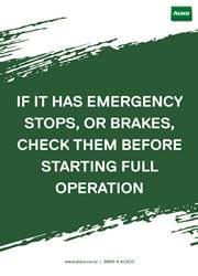emergency reminder poster