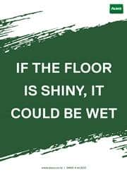 wet floor safety reminder poster