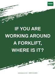 working forklift reminder poster