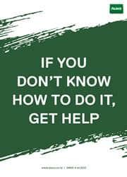 get help message poster