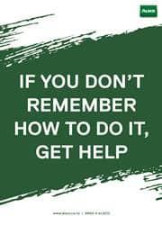 get help reminder poster