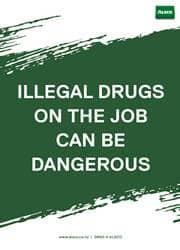 illegal drugs warning reminder poster