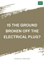 electrical plug safety reminder poster