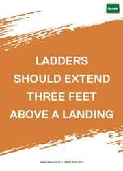 ladder safety reminder poster