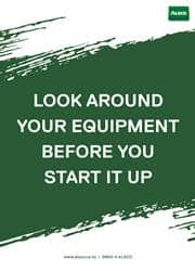check your equipment before use message poster