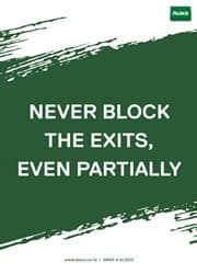 never block the exits poster