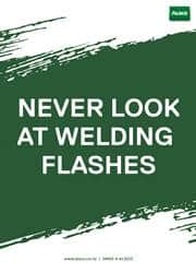 welding safety message poster