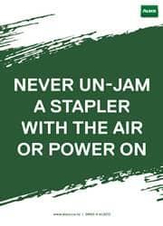 safety use of stapler reminder poster