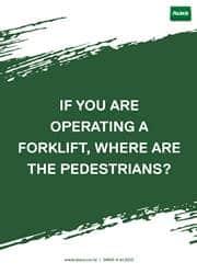 operating forklift reminder poster