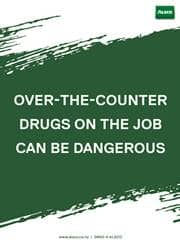over the counter drugs reminder poster