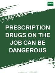 proper drug prescription reminder poster