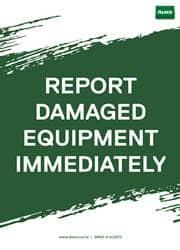 report damaged reminder poster