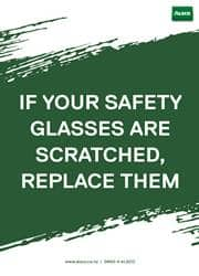 use of safety glasses reminder poster
