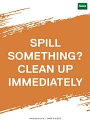spill safety reminder poster