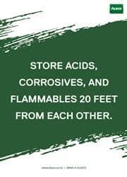 store acid safely reminder poster