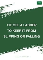proper use of ladder reminder poster