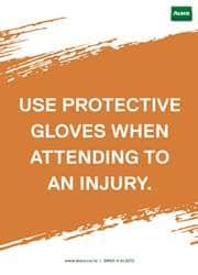 wear protective gloves reminder poster