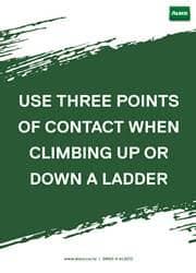 use of ladder safety reminder poster