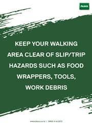 safety work floor area reminder poster