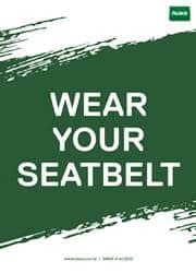 seatbelt safety reminder poster