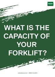 forklift capacity reminder poster