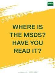 MSDS safety reminder poster