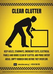 clear clutter reminder poster