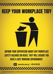 keep workplace clean message poster