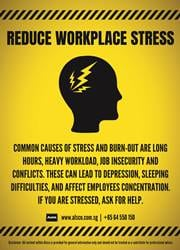 reduce workplace stress reminder poster