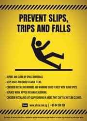 trips and slips safety reminder poster
