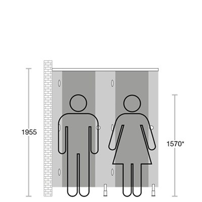 school washroom guide measurement