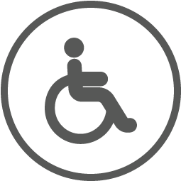 Disabled toilets are self-contained units