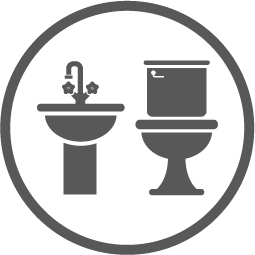 Install equal numbers of toilets and washbasins