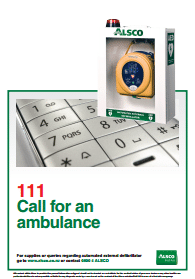 call for an ambulance reminder poster
