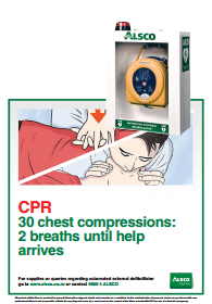 CPR first aid reminder poster