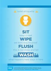 toilet seat safety reminder poster