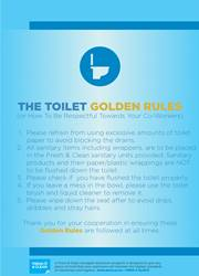 toilet rules reminder poster