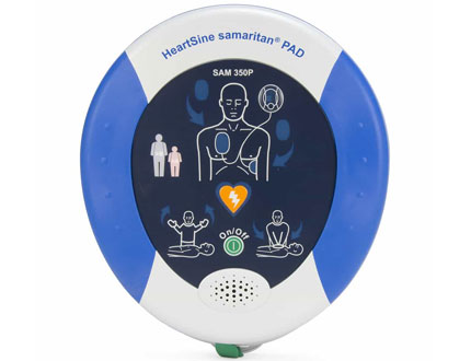 blue and white colour Automatic External Defibrillator
