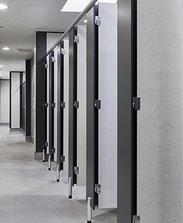 Stadium washroom guide toilet cubicles design