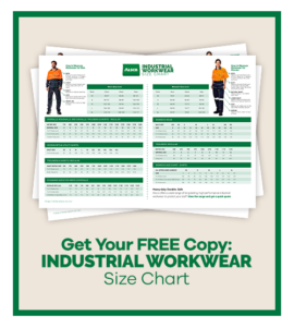 ALSCO Industrial Workwear Size Chart Thumbnail