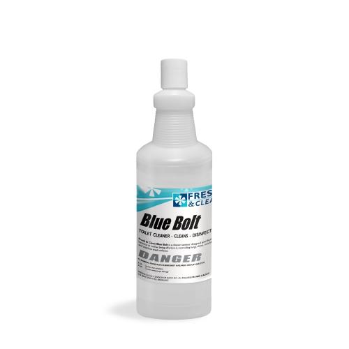 Blue Bolt Flip Cap Applicator Bottle and Label 1L