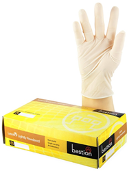 Bastion Latex Lightly Powdered Gloves Large 100