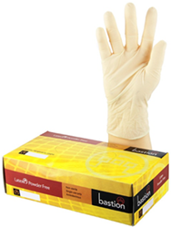 Bastion Latex Powder Free Gloves Medium