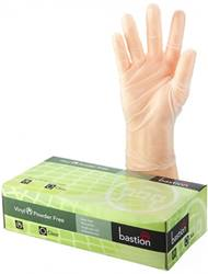 Bastion Vinyl Powder Free Clear Gloves 100