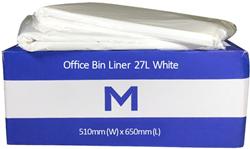 Bin Liner 27L White HD