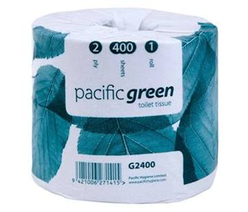 Pacific Green Recycled 2 Ply Toilet Roll