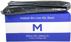 Rubbish Bag 60L Black LD