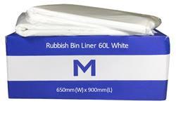 Rubbish Bag 60L White LD