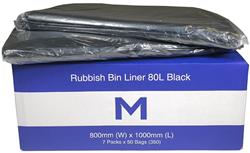 Rubbish Bag 80L Black MD