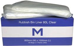 Rubbish Bag 80L Clear MD